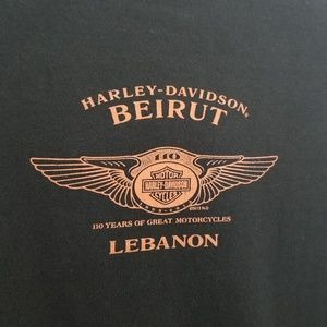 Harley-Davidson Shirts - Harley Davidson Beirut Lebanon T Shirt 110th 2013